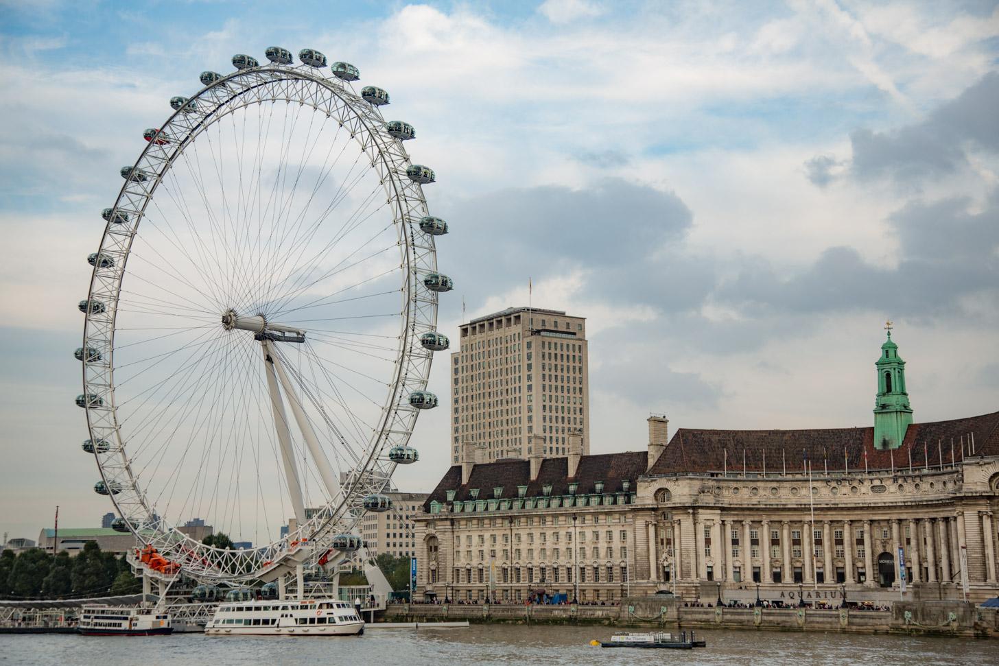 London Eye: het grote reuzenrad in Londen