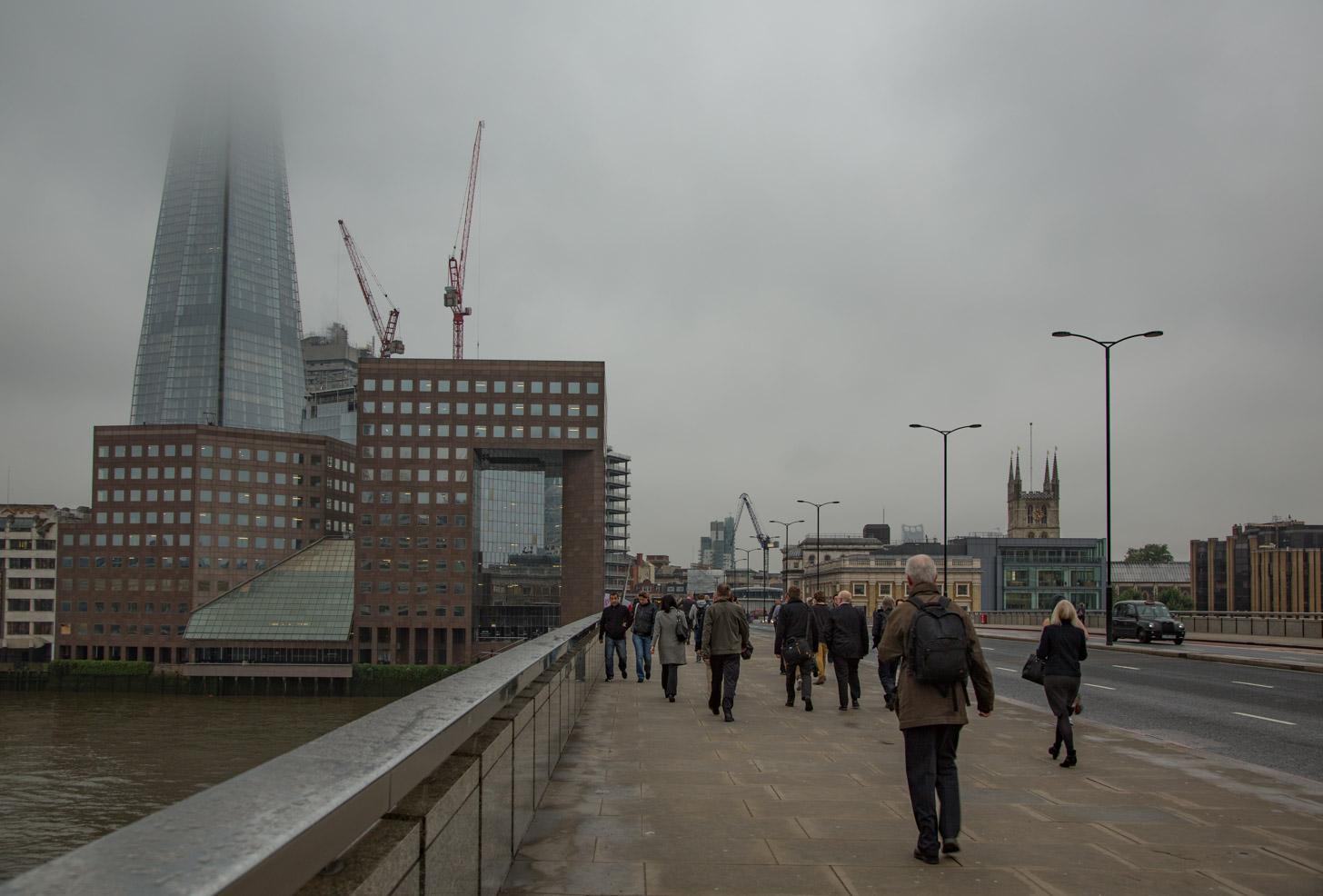 Een grijze dag in Londen